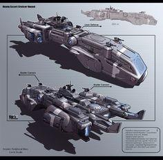 Heavy Escort Cruiser Hound by KaranaK on DeviantArt
