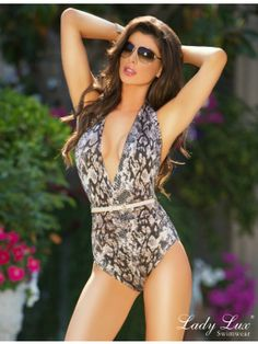 36d8d974701e6 Palm Springs Primmed One Piece Bathing Suit By Lady Lux