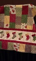 Another Stampin' Up! die cut quilt! Stockings complete with names on them!