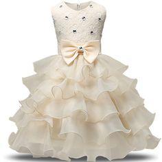 2017 Nueva Marca Vestido de Niña de Verano 3-8 Años Del Bebé Floral Vestido de las muchachas Vestidos 6 Colores Banquete de Boda de La Ropa Del Bebé Del Envío gratis