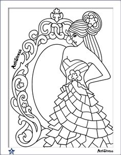 Parchment Craft Coloring Books Colouring Art Therapy Barbie Little Girls Sketches Templates Mandalas