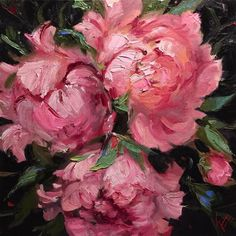"Daily+Paintworks+-+""Playful+Peonies""+-+Original+Fine+Art+for+Sale+-+©+Krista+Eaton"