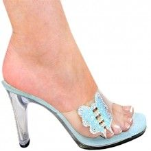 Shoes | Heels | Footwear. 4 Inch Clear Heel Bling. 4 Inch Clear Heel with Clear Upper with Bling Bling Butterfly .  More from Shoes4Stars at http://shrsl.com/?~3h0a