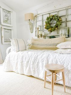 Down stairs Guest Bedroom Progress | farmhouse style bedroom with cozy cottage decor.