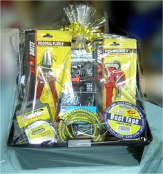 Tool box Gift basket for men or young boy (any occassion)