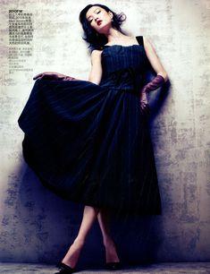 Du Juan | Sharif Hamza | Vogue China August 2012 | Rhapsody of Fashion, the Evolution of LouisVuitton
