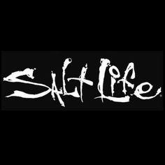 Salt Life Signature Salt Life Decal (White;Small ( 6)