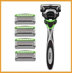 Schick Hydro Sense Sensitive Razors for Men With Skin Guards and Shock Absorbent Technology, 1 Razor Handle and 5 Razor Blades Refills** You can get additional details at the image link. (This is an affiliate link) Best Razor For Men, Best Electric Razor, Amazon Subscribe And Save, Dollar Shave Club, Disposable Razor, Shave Gel, Shaving Razor, Herbal Extracts, Chic