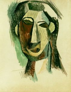"""Pablo Picasso - """"Tête de femme (Fernande Olivier)1"""". 1909"""