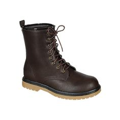 Women's Reneeze Daily-01 - Brown Combat Boots ($36) ❤ liked on Polyvore featuring shoes, boots, brown, brown shoes, brown combat boots, military boots, brown military boots and army boots