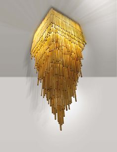 Anonymous; Glass 'Triedero' Chandelier by Venini, c1960.