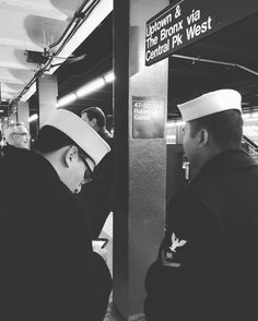 Sailors in the subway