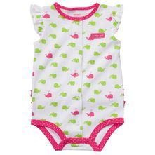 Carter's pink and green whale creeper. TOO CUTE. WANT.