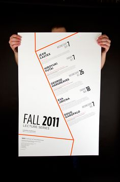 Architecture Lecture Poster on AIGA Member Gallery