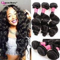 8A a1 Tope Grade 3PCS Brazilian loose wave Human hair Extensions Unprocessed virgin hair weave Brazilian virgin hair Loose wave