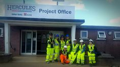 The site team down in Lyneham, Wiltshire