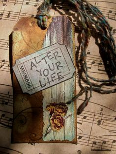 OOAK Art Collage And Ink Bookmark Tag Alter Your by PaperPastiche, $5.95