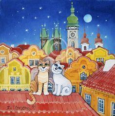 Zuzana Honsova Ronald Mcdonald, Dog Cat, Family Guy, Guys, Painting, Fictional Characters, Artists, Art, Painting Art