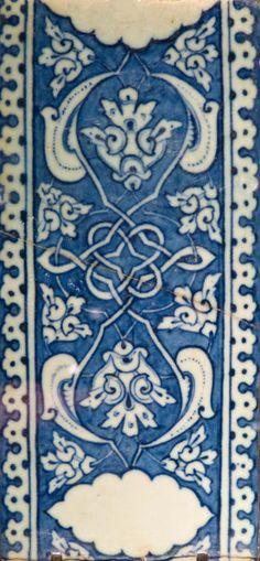 Carreau de bordure - Iznik, vers 1506