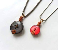 Cool Crafts for Teen Girls - Best DIY Projects for Teenage Girls - Make Simple Button Pendants - http://diyprojectsforteens.com/cool-crafts-for-teen-girls/