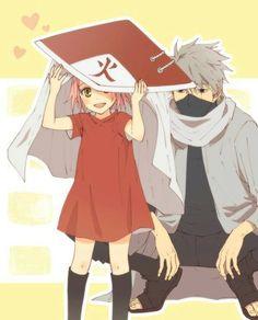 sakura haruno, kakashi hatake, and anime image