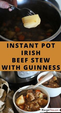 Instant Pot Irish Beef Stew With Guinness. How to make the best ever instant pot irish beef stew on a budget. Tailgating Recipes, Tailgate Food, Quick Meals To Cook, Easy Meals, Slow Cooker Recipes, Beef Recipes, Budget Recipes, Lemon Recipes, Family Recipes