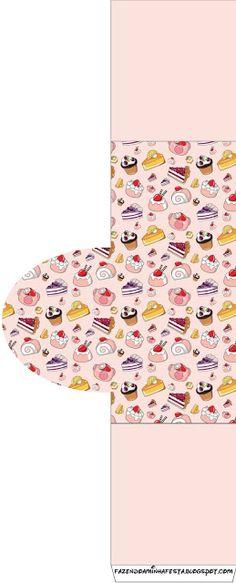 World of Sweets - Kit completo con los marcos para las invitaciones, etiquetas para snacks, souvenirs y fotos!   Hacer Nuestro partido