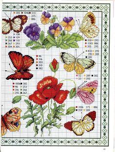 Схемы: Бабочки по канве