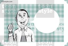 Greeting card with businessman showing thumb up – personalize your card with a custom text