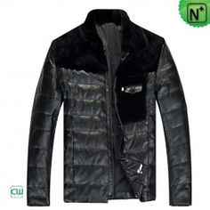 Down Filled Leather Jacket CW848109 - m.cwmalls.com