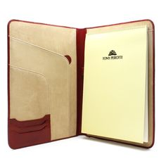 Tony Perotti Italy | Ultimo Executive Business Writing Pad in Hot Red | Italian Leather Writing Pad