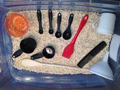 Oatmeal sensory box