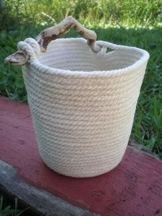 Hold+my+Diftwood+HandLe++Naked+Coil+Rope+by+LivingTreeDesigns,+$60.00