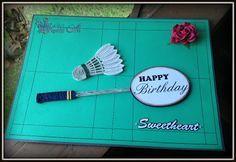 Hanezz Art Card Badminton With Rose Cards Handmade Cards Handmade Birthday Cards