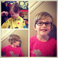 Little girl pixie hair cut.