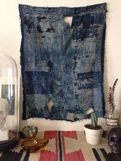 Japanese boro textile #indigo