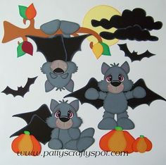 Halloween Bats Paper Piecing