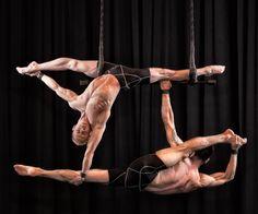 Duo XY Split to Split Back:  Photo by Nakean Wickliff www.duoxytrapeze.com duoxytrapeze@gmail.com