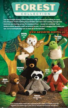 #Scentsy Forest #Buddies Available September 1st, 2013. www.saraverde.scentsy.us