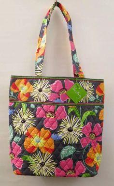 cd959e9a50 Vera Bradley Tote Bag Jazzy Blooms -14368-138