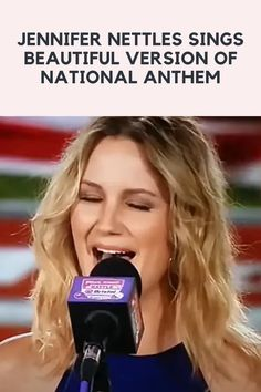 One of the most American moments we can experience is during the National Anthem. A moment of pride for our country and usually, the hope of a good sports game after! When you have a powerhouse vocalist performing, goosebumps are almost guaranteed! People put a lot of time into their National Anthem performances! Finger Tattoos Words, Jennifer Nettles, Viral Trend, Fall Wallpaper, National Anthem, Mehandi Designs, Pretty Hairstyles, Wilderness, Cute Dresses