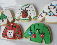 sweater christmas cookie - Google Search