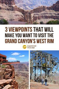 These 3 Viewpoints Will Make You Want to Visit the Grand Canyon's West Rim - Canyon Tours Vegas To Grand Canyon, Grand Canyon West Rim, Grand Canyon Vacation, Grand Canyon Camping, Visiting The Grand Canyon, New Orleans, New York, Las Vegas Vacation, Vacation Spots