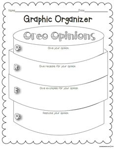 5 Free Printable Graphic Organizers for Opinion Writing by