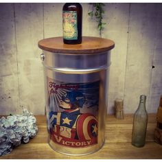 Castrol, The Beatles and Comic superhero stools wooden opening lid in silver, reclaimed old paint pots these are sure hit for children's bedrooms storage Comic Art, Comic Books, Painted Pots, Book Gifts, Bedroom Storage, The Beatles, Stools, Superman, Wonder Woman