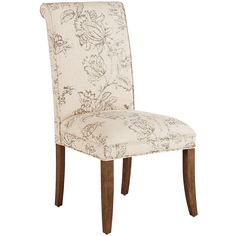 Hand-upholstered in beautiful, linen-blend print, our Angela Deluxe Dining Chair has a tight, self-welted seat and classic rolled back. Durably constructed of a solid wood frame. Cream Dining Chairs, Kitchen Chairs, Dining Room Chairs, Dining Room Furniture, White Chairs, Antique White Furniture, Cream Furniture, Modern Furniture, Parsons Chairs
