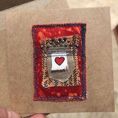 Little heart art quilt card❤️