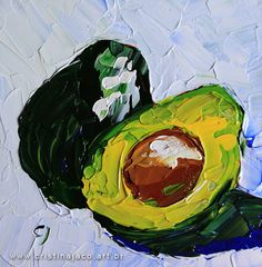 Kitchen art Small original still life painting 6x6 by cristinajaco