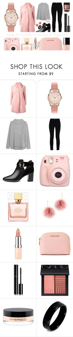 """""""OCTOBER: Breast Cancer Awareness – Troubling statistics"""" by sharmarie ❤ liked on Polyvore featuring BLANCHA, Henry London, Vince, STELLA McCARTNEY, Ted Baker, Fujifilm, Kate Spade, Tuleste, Rimmel and MICHAEL Michael Kors"""