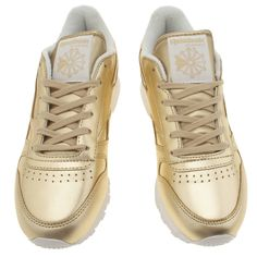 womens reebok gold classic leather spirit trainers Gold Reebok, Gold  Trainers, Classic Leather, 55fe986478db
